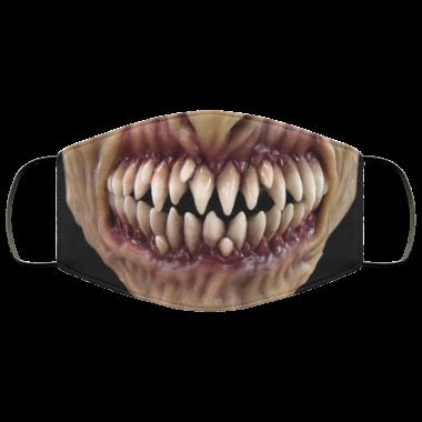 Boogeyman Jaundice with Sharp Teeth Face Mask washable, reusable