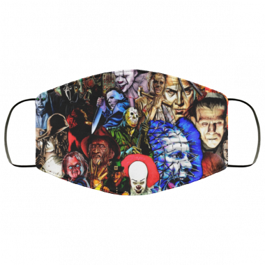 Collage Of Horror Face Mask washable, reusable