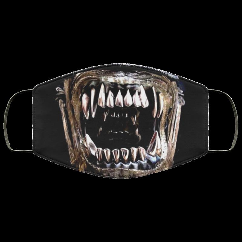 Alien Xenomorph Mouth Face Mask washable, reusable