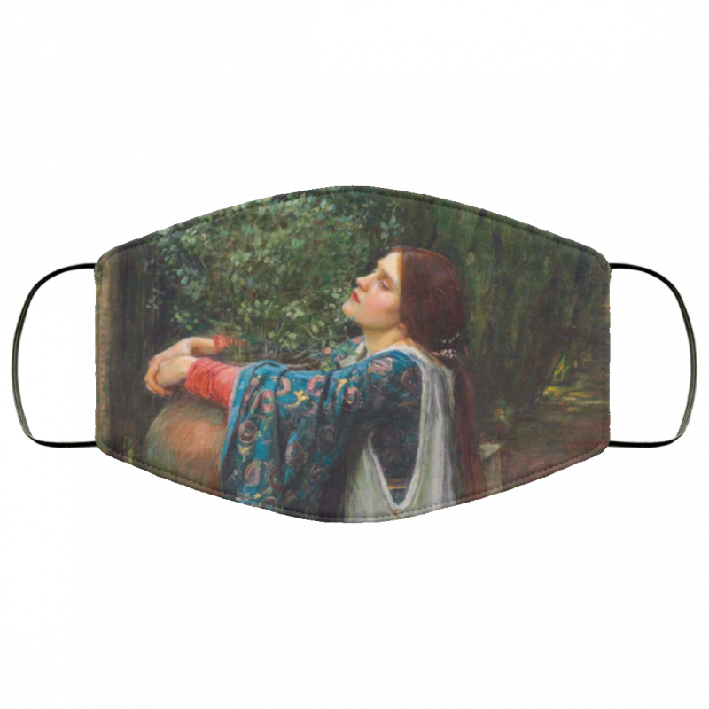 Isabella and the Pot of Basil - John William Waterhouse face mask washable