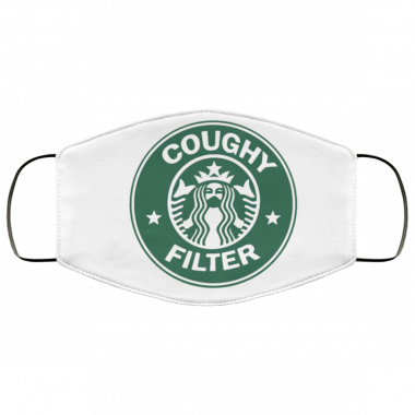 Coughy Filter Starbucks Logo Face Mask Washable, Reusable
