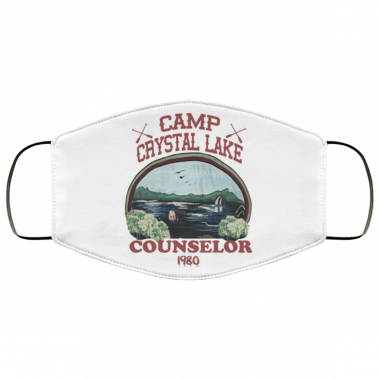 Camp Crystal Lake Counselor Face Mask Washable, Reusable