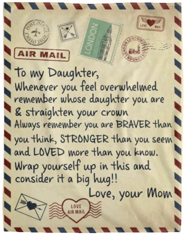 To my daughter whenever you feel overwhelmed Fleece Blanket
