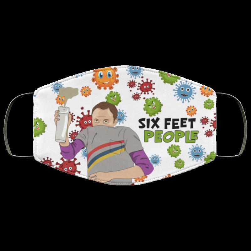 The Big Bang Theory Sheldon Cooper Six Feet People Face Mask