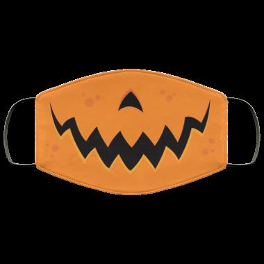 Crazy Pumpkin Jack-O-Lantern Mouth face Mask