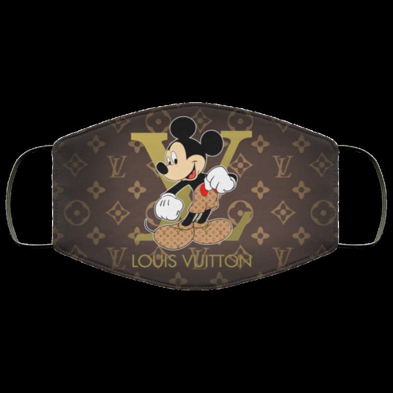 Mickey Mouse Louis Vuitton Cloth Face Mask Reusable