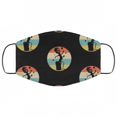 Vintage Retro Sunset Cute Baby Groot face Mask