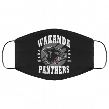 Wakanda Panthers face mask washable reusable