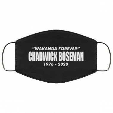 WAKANDA FOREVER CHADWICK BOSEMAN face mask