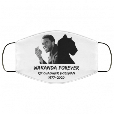 Wakanda forever RIP chadwick boseman Panther face mask