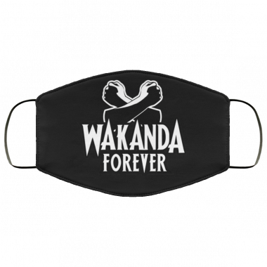 Black Panther Wakanda Forever Salute face mask