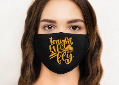 Tonight we fly, Halloween Face Masks, Washable Face Mask, Reusable Face Mask