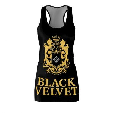 Black Velvet Canadian Whisky Dress Women's Cut And Sew Racerback