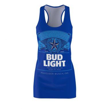 Bud Light Beer Dress Women's Cut And Sew Racerback