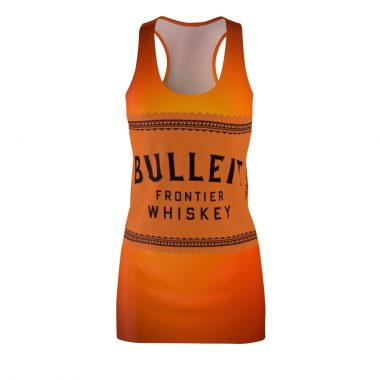 Bulleit Bourbon Frontier Whiskey Bottle Dress Women's Cut And Sew Racerback