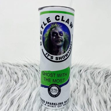 Beetle Juice Claw Its Show Time Skinny tumbler 20oz 30oz