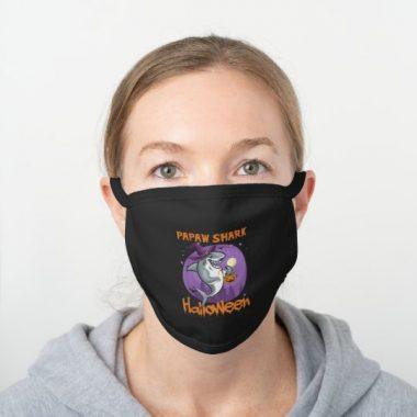 Mens Papaw Shark Boo Boo Mens Halloween s Black Cotton Face Mask