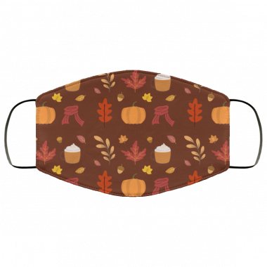 Autumn Fall Season Cosy Pattern Pack Face Mask
