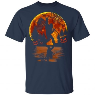 Bigfoot Rock On Sasquatch American Flag Halloween T-Shirt