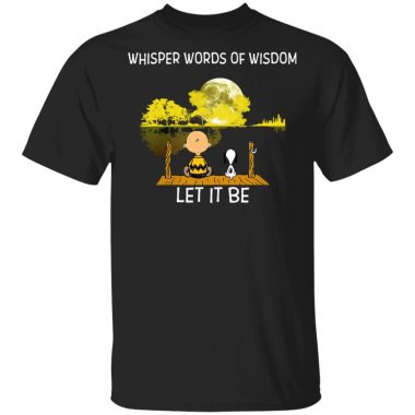 Whisper Words Of Wisdom Let It Be Guitar Lake Shadow Snoopy T-Shirt