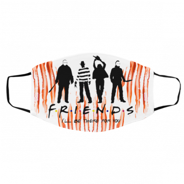 Zoko Apparel Horror Friends I'll Be There For You Halloween Face Mask