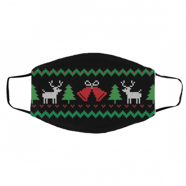 Ugly Christmas Sweater mask - Covid Christmas Face Mask