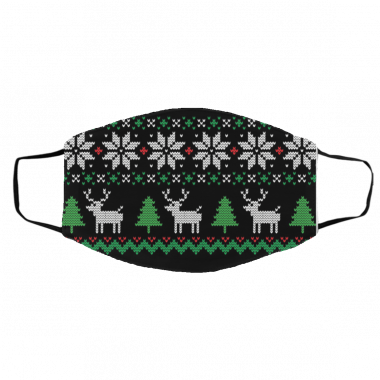 Ugly Christmas Sweater mask - Covid Christmas 2020 Face Mask