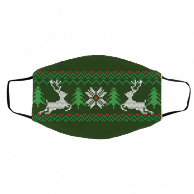 Ugly Christmas Sweater Green - Covid Christmas 2020 Face Mask