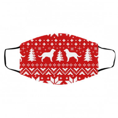 American Water Spaniel Silhouettes Ugly Christmas Face Mask