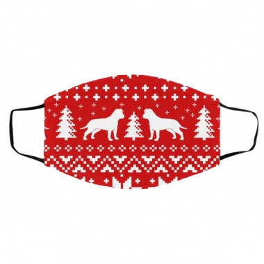 American Staffordshire Terrier Silhouettes AmStaff Ugly Christmas Face Mask