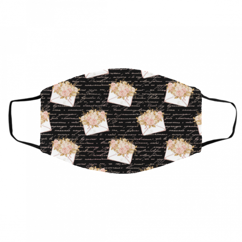 Floral Fabric Pink Floral Face Mask