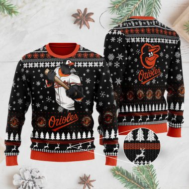 Baltimore Orioles 3D Ugly Christmas Sweater