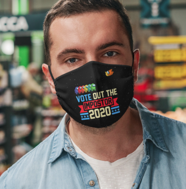 Vote Out The Impostor Cloth Face Mask