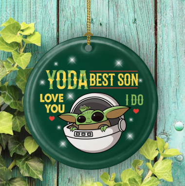 Youda Best Son Ever Love You I Do Decorative Christmas Ornament