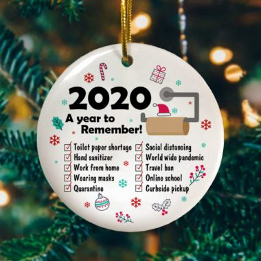 2020 A Year To Remember Circle Ornament Keepsake Funny 2020 Christmas Ornament