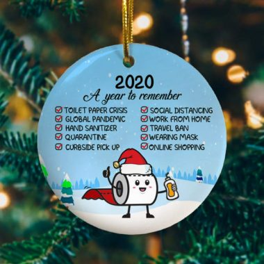 2020 A Year To Remember Christmas Ornament Funny Xmas Gift