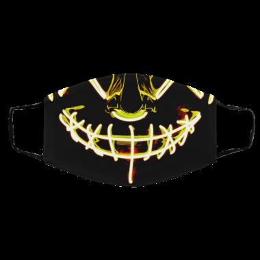 Yellow Anroll Halloween Mask LED Light Up Face Mask