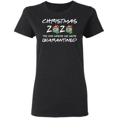 2020 Christmas Bear Wearing Face Mask Quarantined Xmas T-Shirt, Sweatshirt