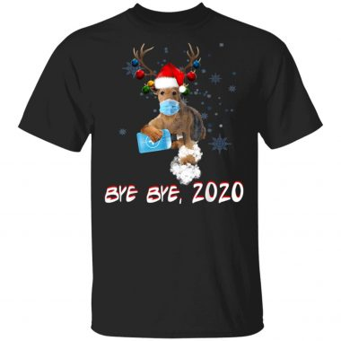 Airedale Terrier Dog Bye Bye 2020 Christmas T-Shirt, sweatshirt