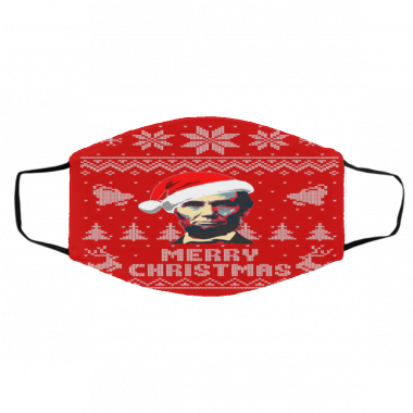 Abraham Lincoln Merry Christmas face mask