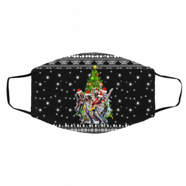 Aerosmith Christmas Tree Ugly Christmas Face Mask