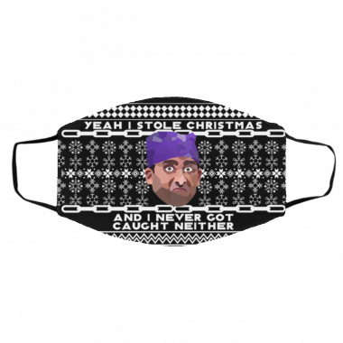 Yeah I Stole Christmas And I Never Got Caught Neither Prison Mike Ugly Christmas Face Mask