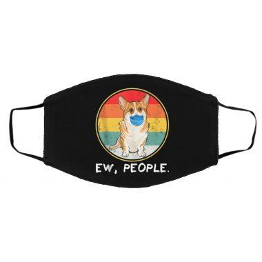 Ew People Pembroke Welsh Corgi Dog Wearing Face Mask