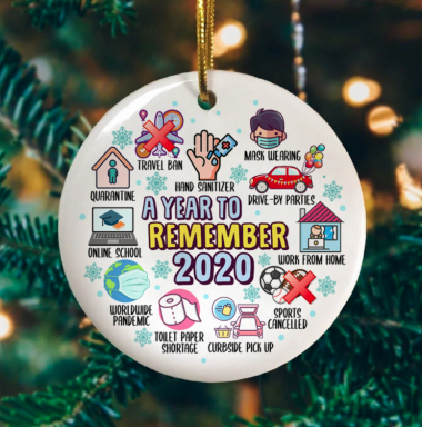 2020 A Year To Remember Christmas Ornament