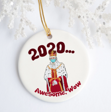 2020 Awesome Wow Funny Hamilton King George Christmas Ornament