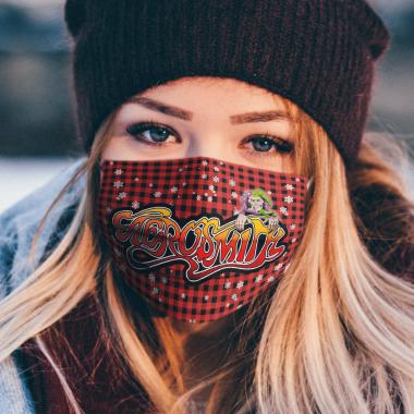 Aerosmith Merry Christmas Face Mask Washable, Machine-Washable, Waterproof, Breathable Mask Cover