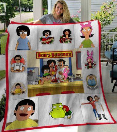 Bob's Burgers Tv Series Characters Fleece Blanket