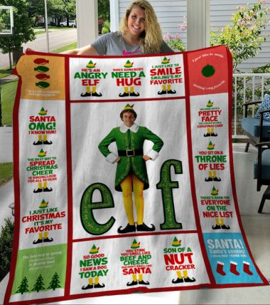 Buddy The Elf Christmas Santa I Know Him Fleece Blanket
