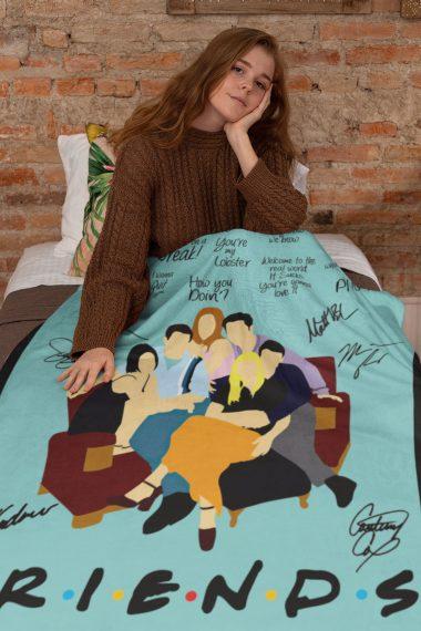 Friends Tv Show American Sitcom Quotes Fleece Blanket