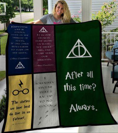 Harry Potter Quotes Fleece Blanket